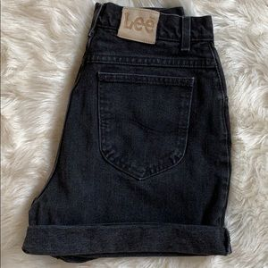 Vintage Black Lee High Rise Jean Shorts